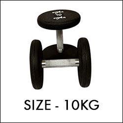 ... 10 kg round black dumbbells set ...